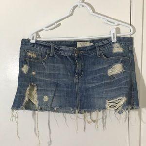 Blue Jean mini distressed skirt